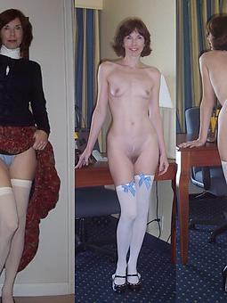 pretty mature dressed undressed pictures