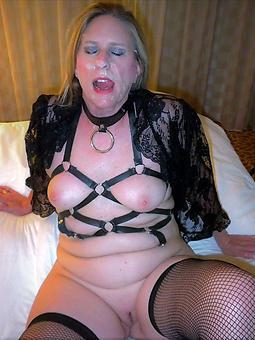 elderly lady cumshot tease pics