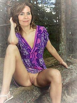 wild grown-up woman upskirt