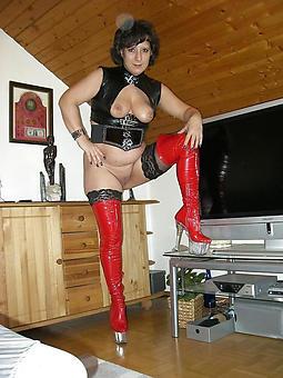 pretty undress mature ladies in high heels