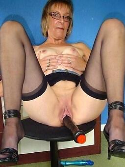 pulling mature lady stockings