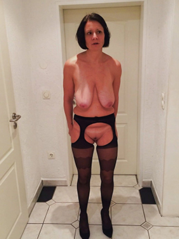 whore full-grown wife in stockings