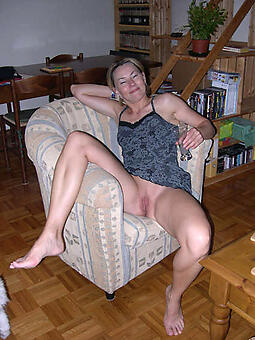 X-rated naked older wife pussy stripping