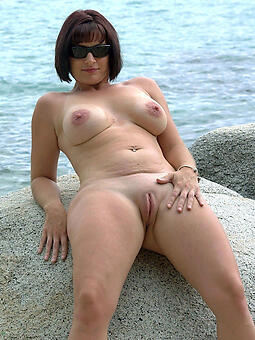 perfect naked mature on beach space launch