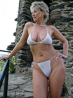 inept grown up hot milf in bikini sexy