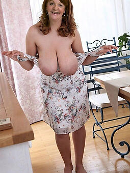 big Bristols age-old lady nude