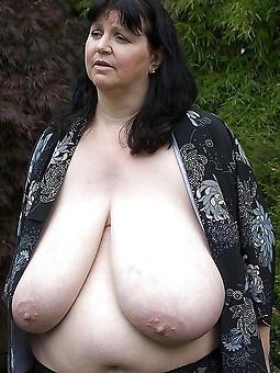 nude old lady saggy boobs