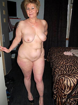 down in the mouth mature granny lady stripping